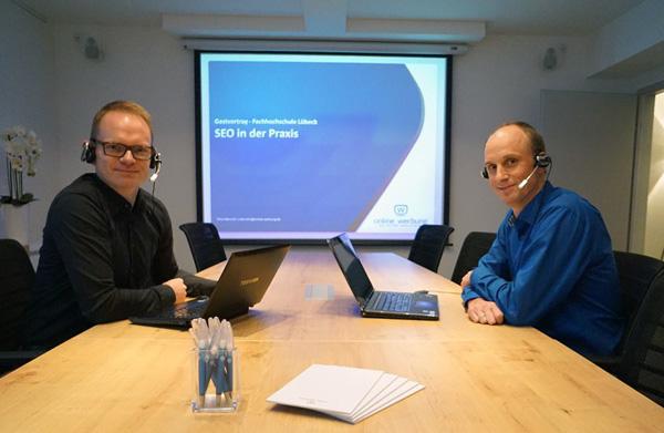 Webinare halten Nico (links) und Timo regelmäßig zu unterschiedlichen Themenstellungen
